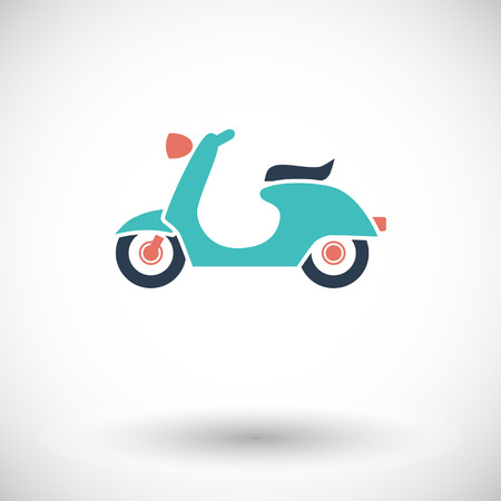 Scooter. Single flat icon on white background.  Vector