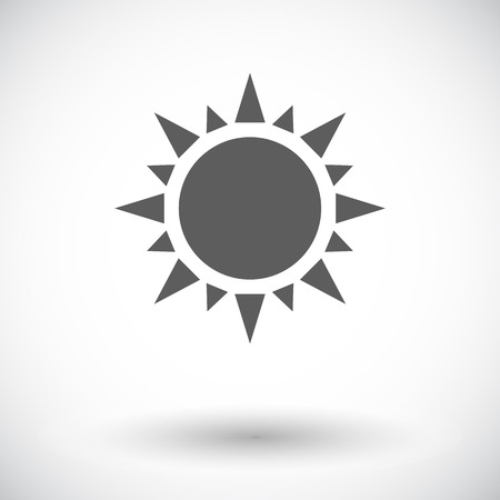 Sun. Single flat icon on white background.  Vector