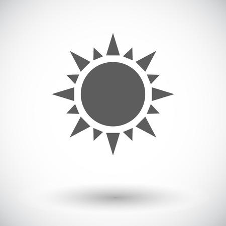 Sun. Single flat icon on white background.  Vector