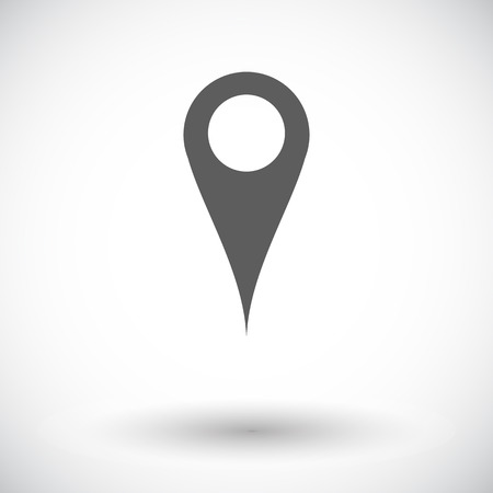 Map pointer. Single flat icon on white background. Vector illustration. Vector