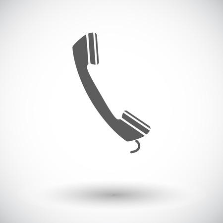 digitized: Tel�fono. Solo icono de plano sobre fondo blanco.