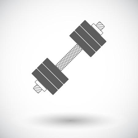 body building exercises: Dumbbell. Single flat icon on white background. Vector illustration. Illustration