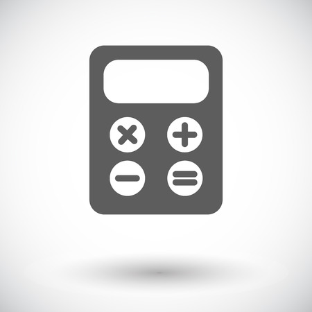 maths department: Calculator. Single flat icon on white background. Vector illustration.
