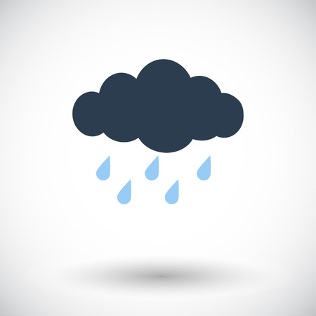 hailstorm: Rain. Single flat icon on white background. Illustration