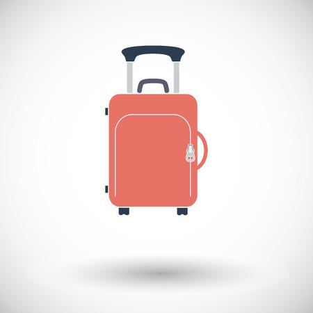 Suitcase. Single flat icon on white background.  Illustration