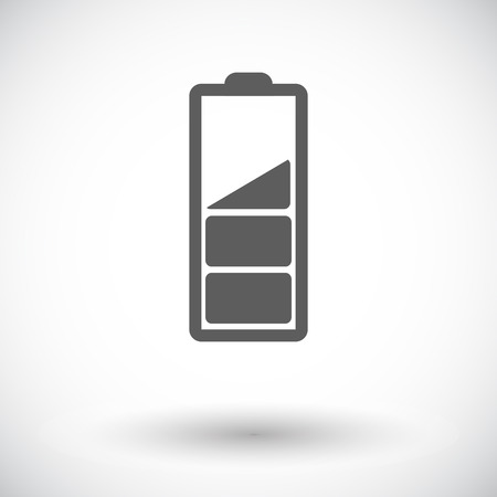 Charging the battery. Single flat icon on white background.  Vector