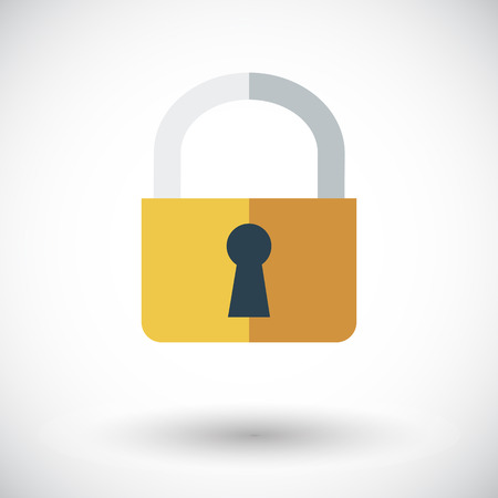 Lock. Single flat icon on white background.  Vector
