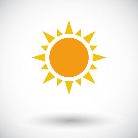 sunshine abstract: Sun. Single flat icon on white background. Vector illustration. Illustration