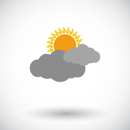 cloudiness: Cloudiness. Single flat icon on white background. Vector illustration. Illustration