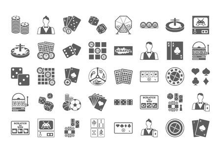 cartas poker: Icono de Casino. Ilustración aislada en el fondo blanco.
