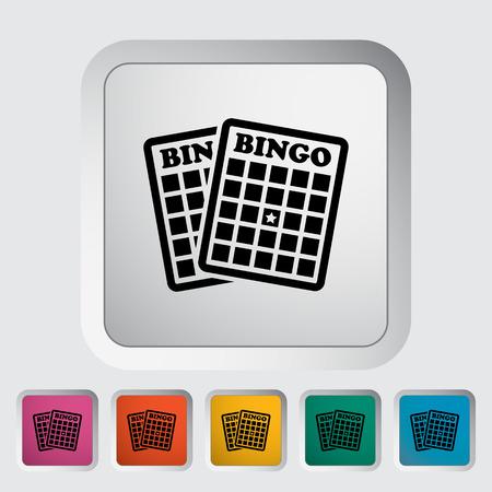 recreational pursuit: Bingo. Single flat icon on the button. Vector illustration.