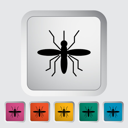 parasitic: Mosquito. Single flat icon on the button