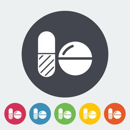 contraceptive: Contraceptive pills. Single flat icon on the button