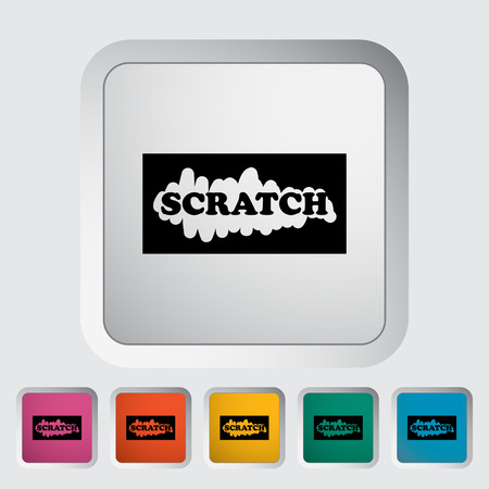 scratch card: Scratch card. Single flat icon on the button