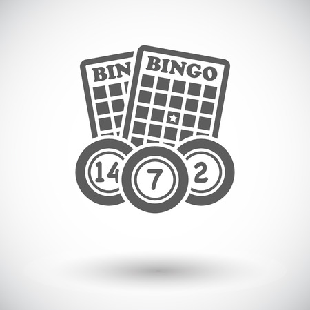 bingo: Bingo. Individual icono de plano sobre fondo blanco. Ilustración del vector.