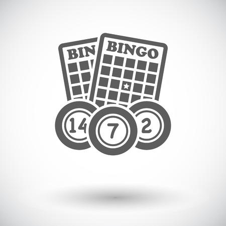 Bingo. Single flat icon on white background. Vector illustration.