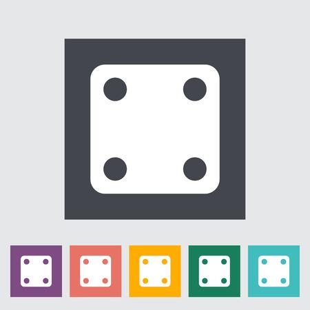 craps: Craps. Single flat icon on the button. Vector illustration.