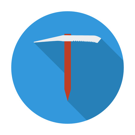 traditional climbing: Ice axe. Flat vector icon for mobile and web applications. Vector illustration.