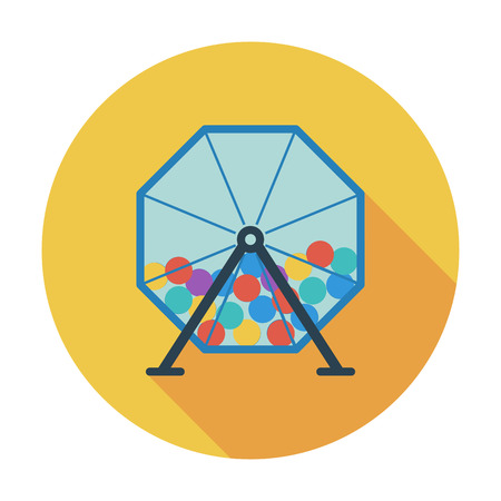 wheel of fortune: Lotteries. Flat vector icon for mobile and web applications. Vector illustration.