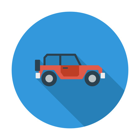 offroad car: Offroad car. Flat vector icon for mobile and web applications. Vector illustration.