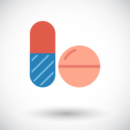 contraceptive: Contraceptive pills. Flat vector icon for mobile and web applications. Vector illustration.