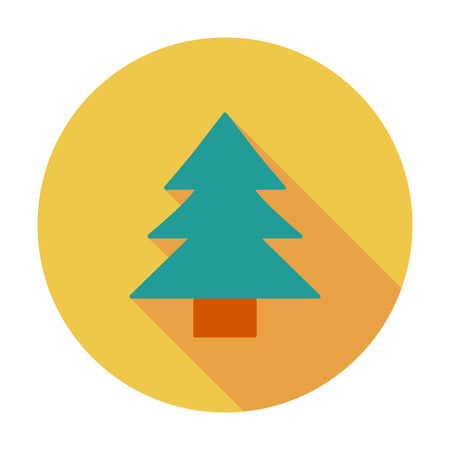 conifer: Conifer. Flat vector icon for mobile and web applications. Vector illustration. Illustration