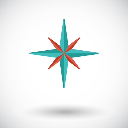 northwest: Wind rose. Flat vector icon for mobile and web applications. Vector illustration.