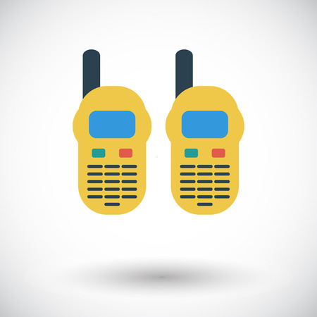 portable radio: Radio port�til. Vector icon Piso en aplicaciones m�viles y web. Ilustraci�n del vector. Vectores