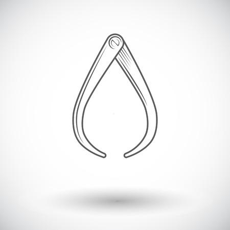 pied   � coulisse: �triers. Icone plat unique sur fond blanc. Vector illustration.