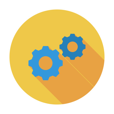 fix gear: Gear. Flat vector icon for mobile and web applications. Vector illustration.