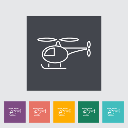 transposition: Helicopter thin line flat vector related icon set for web and mobile applications. It can be used as - logo, pictogram, icon, infographic element. Vector Illustration. Illustration