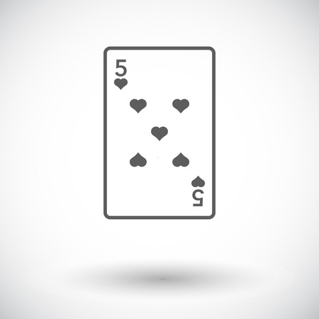 double the chances: Play card. Single flat icon on white background. Vector illustration.