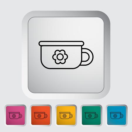 urinare: Potty sottile linea piatta vettoriale connessi set di icone per il web e applicazioni mobili. Pu� essere usato come - logo, pittogramma, icona, elemento infografica. Illustrazione vettoriale.