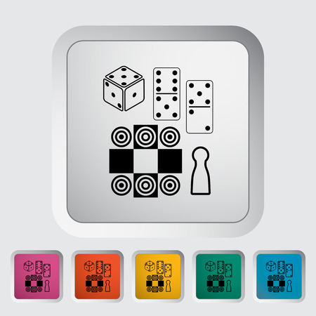 table games: Table games flat icon on the button