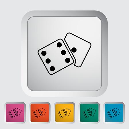 craps: Craps flat icon on the button