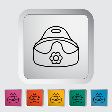 urinating: Potty thin line flat icon set