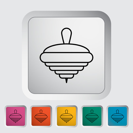 whirligig: Whirligig thin line flat icon set