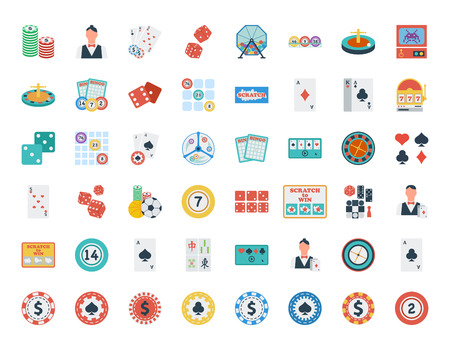 sic: Casino icon. Flat vector related icon set for web and mobile applications. It can be used as - logo, pictogram, icon, infographic element. Vector Illustration.