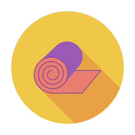 acolchado: Acampar colchoneta. Vector icon Piso en aplicaciones m�viles y web. Ilustraci�n del vector. Vectores
