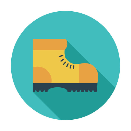 Hiking shoes. Flat vector icon for mobile and web applications. Vector illustration.  イラスト・ベクター素材