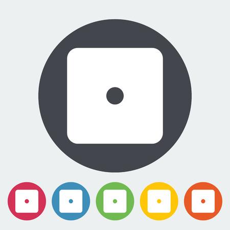 las vegas metropolitan area: Craps. Single flat icon on the circle button. Vector illustration.