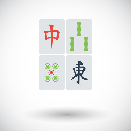 lucky bamboo: Mahjong. Flat vector icon for mobile and web applications. Vector illustration.