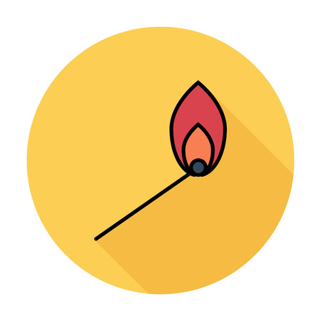 color match: Match. Single flat color icon on the circle. Vector illustration.