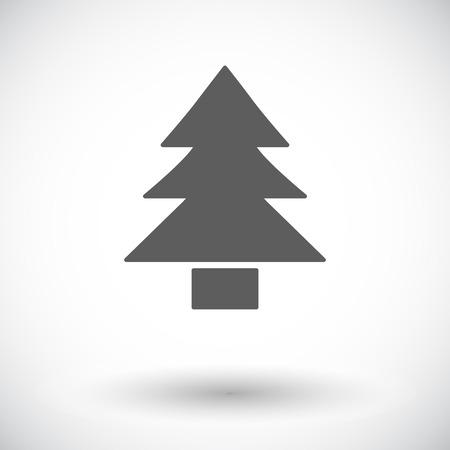 conifer: Conifer. Single flat icon on white background. Vector illustration.