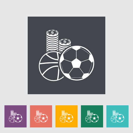 wagers: Sport games. Single flat icon on the button. Vector illustration. Illustration