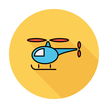 transposition: Helicopter icon. Flat vector related icon whit long shadow for web and mobile applications. It can be used as - logo, pictogram, icon, infographic element. Vector Illustration.