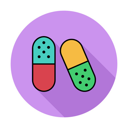 contraceptive: Pills icon. Line flat vector related icon for web and mobile applications. It can be used as - logo, pictogram, icon, infographic element. Vector Illustration.