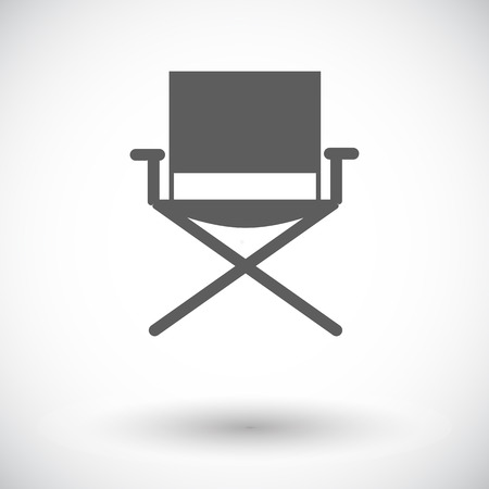 chair: Camping chair. Single flat icon on white background. Vector illustration.