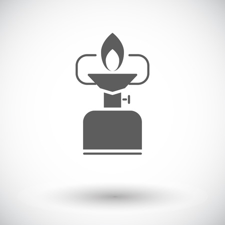 pursuit: Camping stove. Single flat icon on white background. Vector illustration.