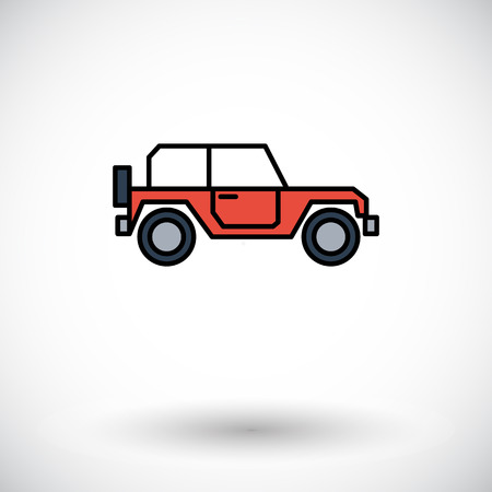 offroad car: Offroad car. Flat icon on the white background for web and mobile applications. Vector illustration. Illustration
